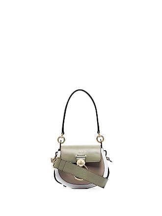 Chloé small Tess lizard-effect shoulder bag - Verde