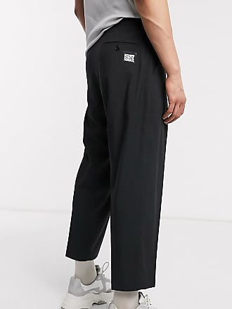 Reclaimed Vintage Reclaimed vintage wide leg smart trousers-Black