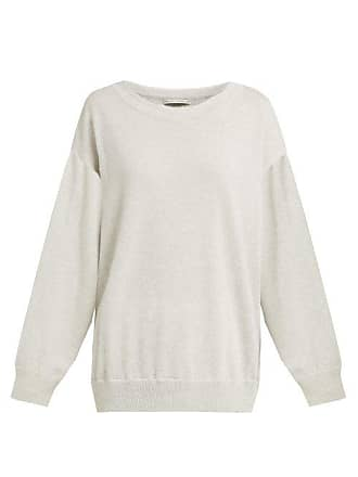 Queene and Belle Queene And Belle - Round Neck Cashmere Sweater - Womens - Light Grey