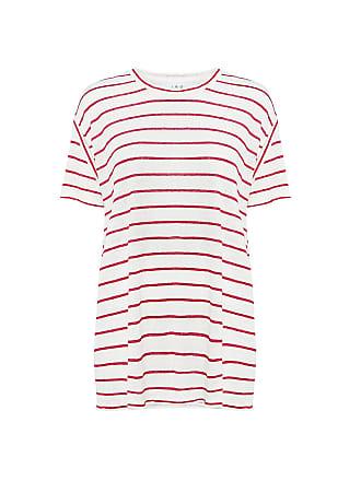 Iro Brooklyn Striped Tee Ecru:red
