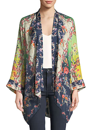 3c129ab180c7d Johnny Was Plus Size Dolce Long-Sleeve Floral-Print Georgette Kimono