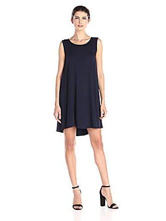 Karen Kane Womens Sleeveless Maggie Trapeze Dress, Navy Small