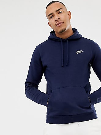 ac4eebdf8 Nike Tall Pullover Hoodie With Swoosh Logo In Navy 804346-451