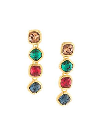 Kenneth Jay Lane gemstones drop earrings - Estampado