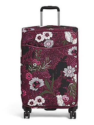 Vera Bradley Iconic Large Spinner, Bordeaux Meadow, One Size
