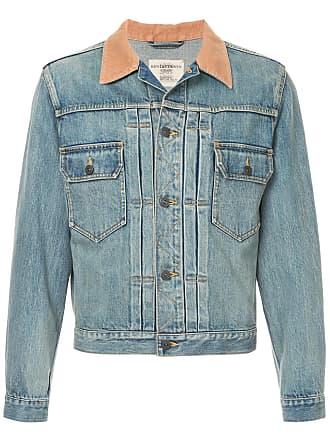 Kent & Curwen contrast collar denim jacket - Blue