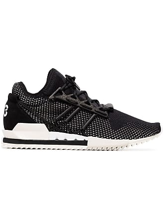 Yohji Yamamoto black Harigane leather sneakers