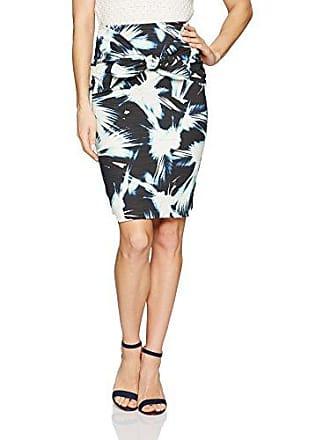 Nicole Miller Womens Fan Burst Print Cotton Metal Skirt, Multi, 2