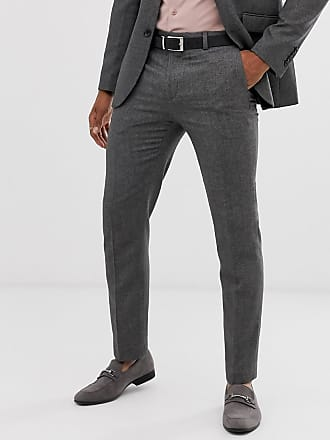 Burton Menswear slim suit trousers in mini grey check