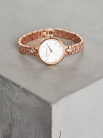 BCBGeneration Rose Gold-Tone Crystal Bracelet Watch
