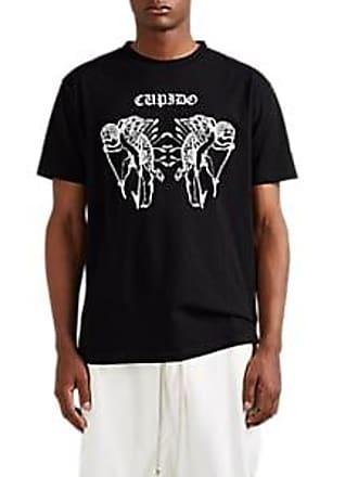 Marcelo Burlon Mens Cupido Cotton T-Shirt - Black Size XS