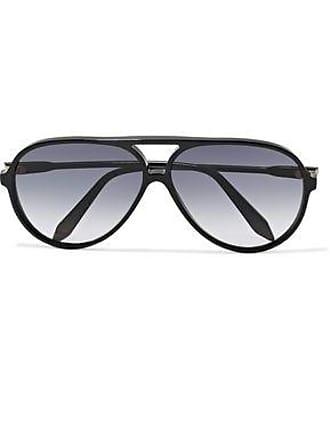 Victoria Beckham Victoria Beckham Woman Fine Aviator-style Tortoiseshell Acetate Sunglasses Black Size