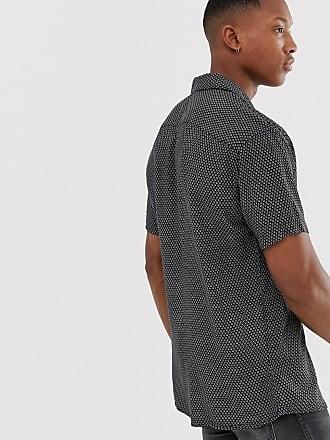 9332075b0ee Jack   Jones Premium revere collar shirt in ditsy print - Black