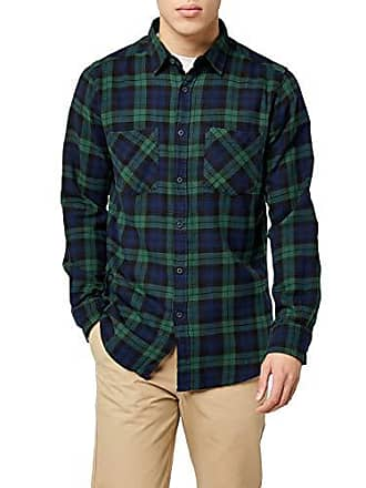 fd5ad2b347542 Urban Classics Checked Flanell Shirt 3, Chemise Casual Homme, Multicolore  (Forest NVY