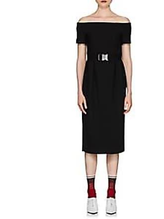 85c36ec1fbc22 Fendi Womens Wool Crepe Off-The-Shoulder Dress - Black Size 36 IT