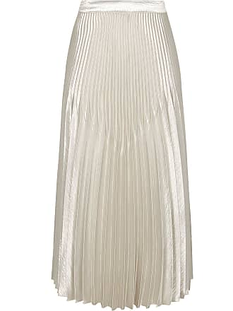 a422d64344 Reiss Isidora - Knife Pleat Skirt in Silver, Womens, Size 10