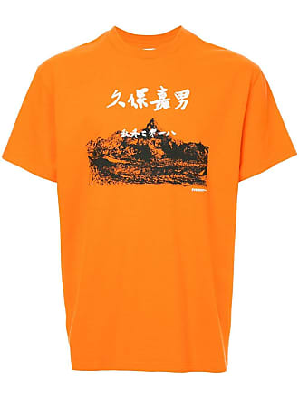 Yoshiokubo printed round neck T-shirt - Orange
