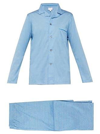 Derek Rose Bari Cotton Pyjama Set - Mens - Blue