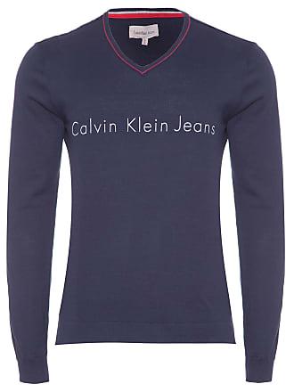 Calvin Klein SUÉTER MASCULINO GOLA V - AZUL MARINHO
