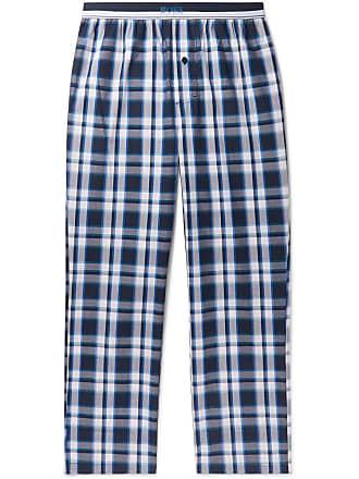 ddd16b940 HUGO BOSS Checked Cotton Pyjama Trousers - Navy