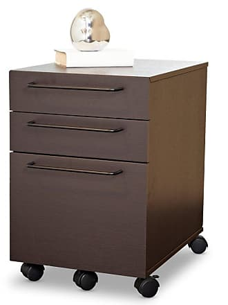 Unique Furniture Tribeca 2 Drawer File Cabinet - Espresso - 211-ESP