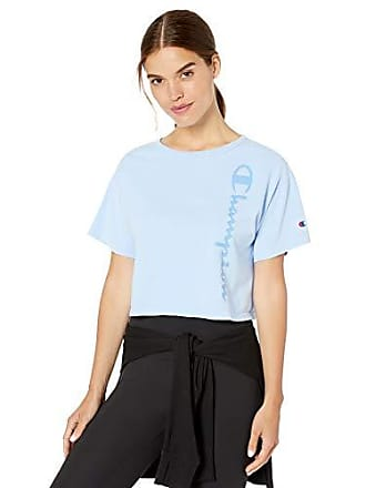 b929ac90341c Champion Life Womens Cropped Tee-Garment Dyed, Ocean Front Blue, L