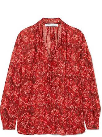 Iro Vagabond Printed Chiffon Blouse - Red