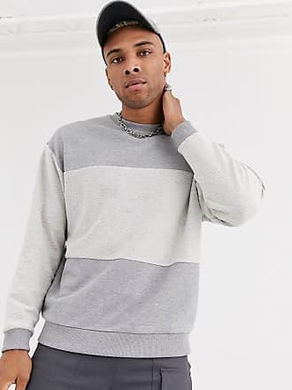 ASOS DESIGN – Gråmelerad oversize sweatshirt med MA1 ficka