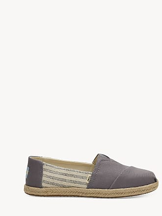 Toms Womens Alpargata Canvas Flats Drizzle Grey Size 9.5 From Sole Society