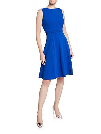 Iconic American Designer Ricrac-Trim Fit-&-Flare Dress