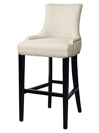 New Pacific Direct 108530-HS03 Charlotte Fabric Bar Stool Furniture, Linen Beige