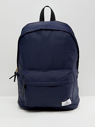 Asos ASOS - Marinblå ryggsäck med påsydd detalj - Marinblå e36370b071740