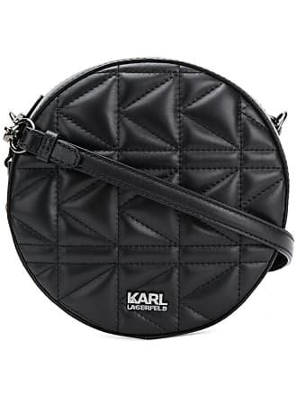 Karl Lagerfeld Bolsa transversal Kuilted - Preto