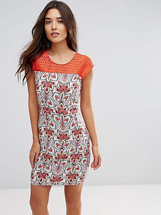 Lavand Shift-klänning med mönstrad panel och knytning - Flerfärgad 553976ba9d9c1