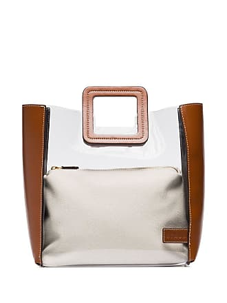 Staud Shirley two-tone tote - Marrom