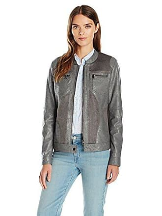 84d3ae5dd24a0 Tribal Womens Faux Leather Zip Front Jacket