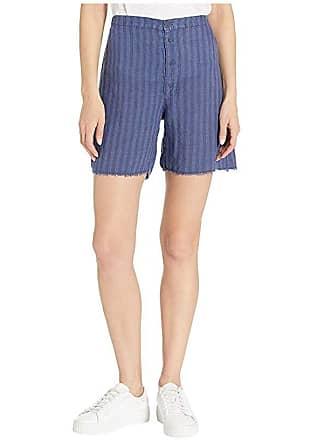 Xcvi The Striped Shorts in Delta Stripe Linen (Eventide Pigment) Womens Shorts