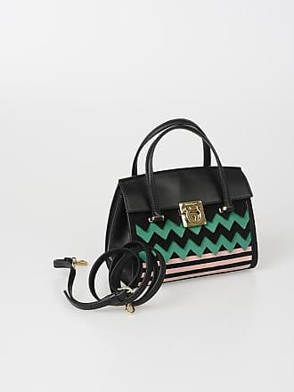 7a619d6e3ca1 Salvatore Ferragamo Leather MARA Shoulder Bag with Suede Details size Unica