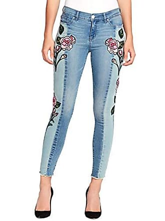 William Rast Womens Perfect Skinny Ankle Jean, Hallows Rose Glass Embroidery, 27