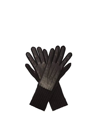 c337578650e42 Burberry Cashmere And Leather Gloves - Womens - Black