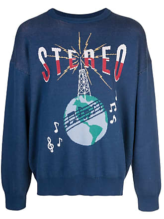 Just Don Blusa de moletom com estampa Stereo - Azul