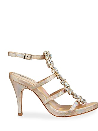 b3a01af2e Neiman Marcus Jeweled Iridescent T-Strap Sandals