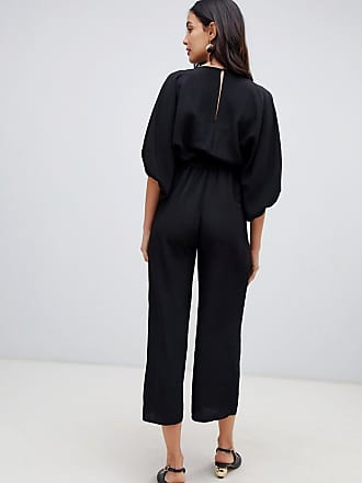 8cb6df6317c Asos Maternity ASOS DESIGN Maternity kimono sleeve jumpsuit with wrap and  culotte leg - Black