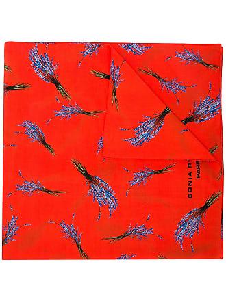Sonia Rykiel Cachecol com estampa - Vermelho