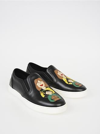 204d83856fb92 Dolce   Gabbana Slip On LONDON in Pelle con Patch FAMILY taglia ...