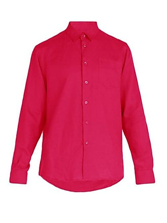 Vilebrequin Patch Pocket Linen Shirt - Mens - Pink