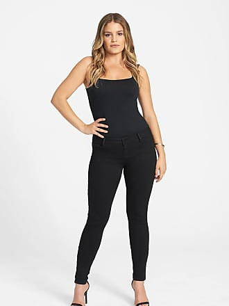 Alloy Apparel Tall Powerstretch London Skinny Plus Size Jeans for Women Black 16/35 - Cotton