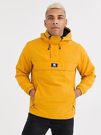 Bershka Jacke zum Überziehen mit Fleece-Futter in Gelb