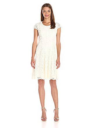 Tommy Hilfiger Womens Fern Lace Dress, Ivory, 12