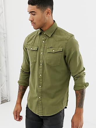G-Star slim fit 3301 shirt in khaki - Green